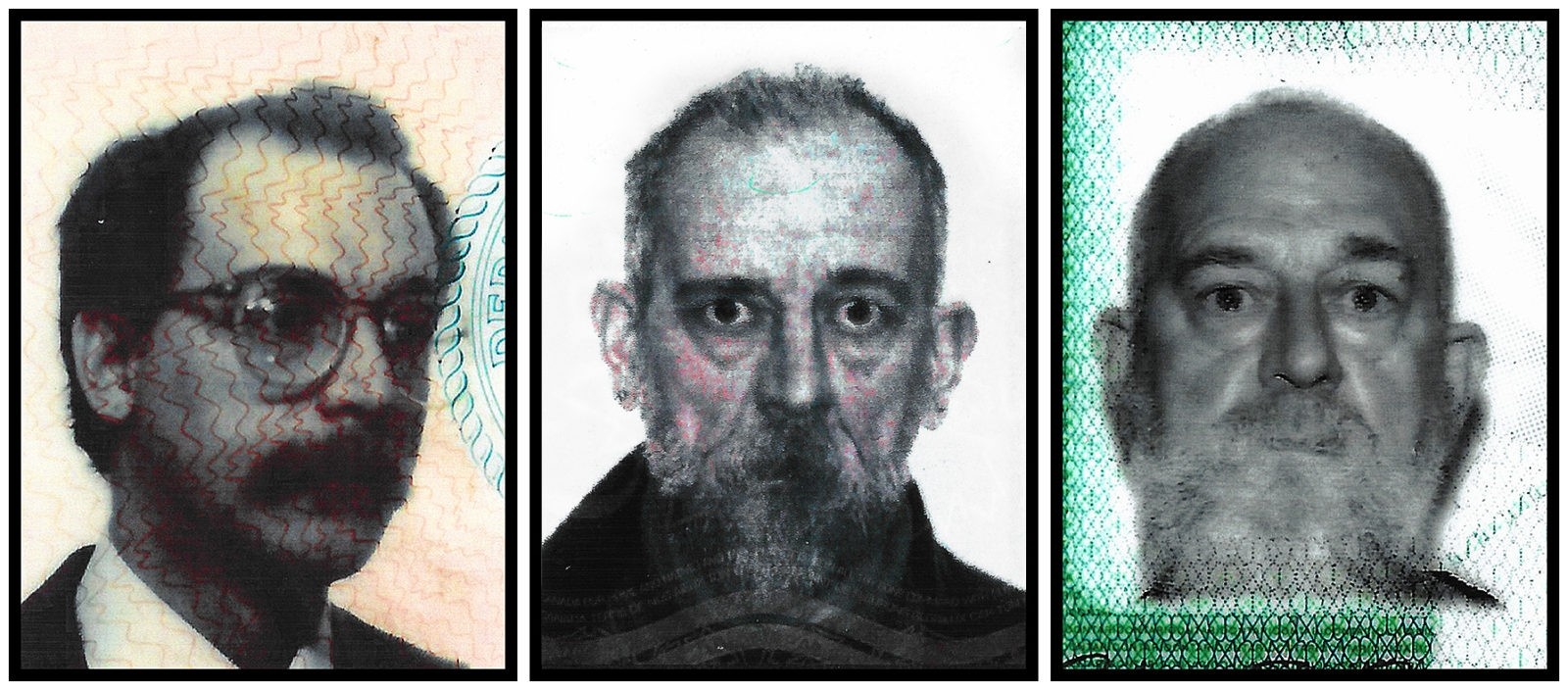 "Work # 1001: Four Decades Three Governments Two Countries One Man"" (triptych)"