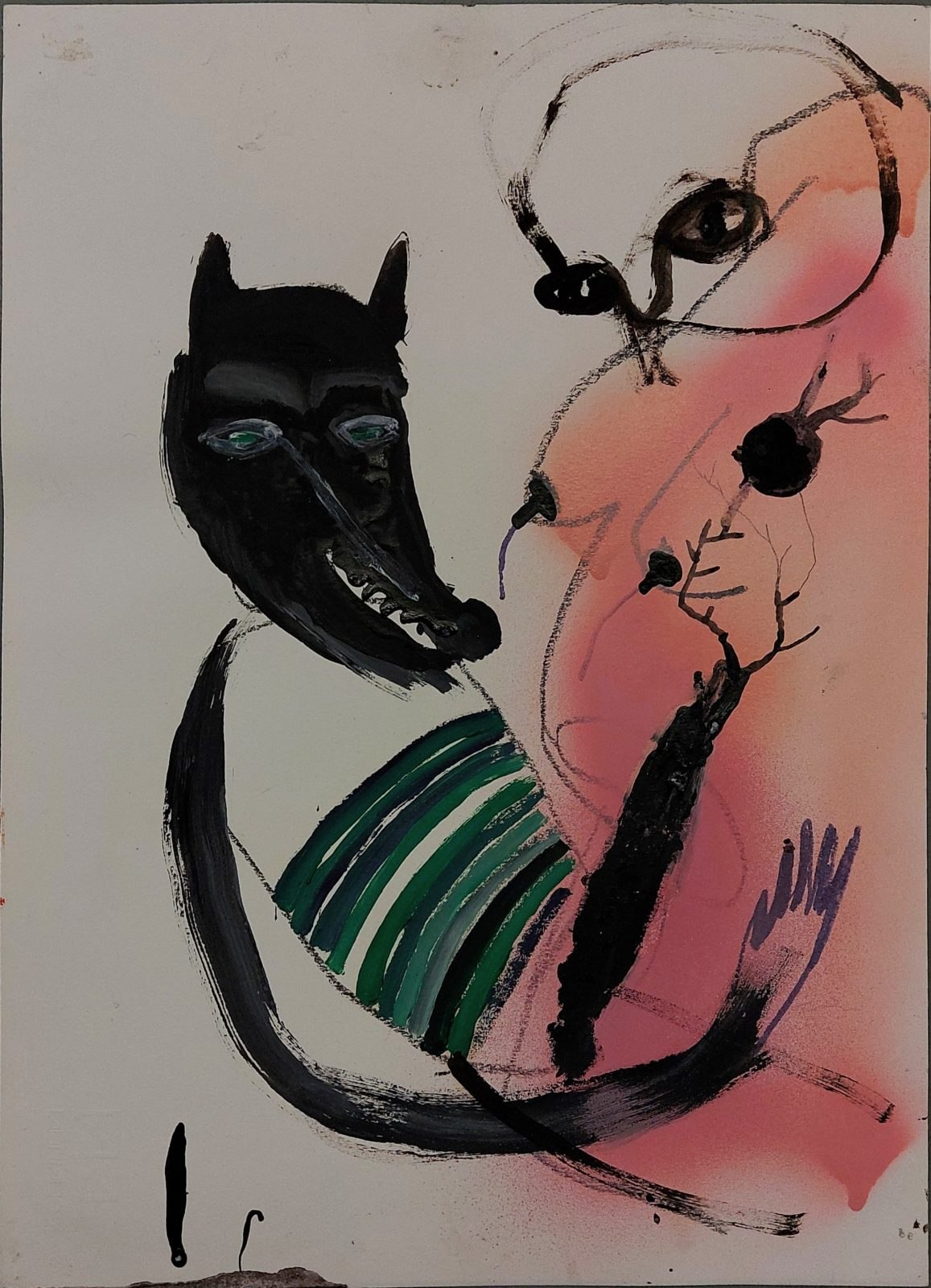 Untitled (wolf with nude)