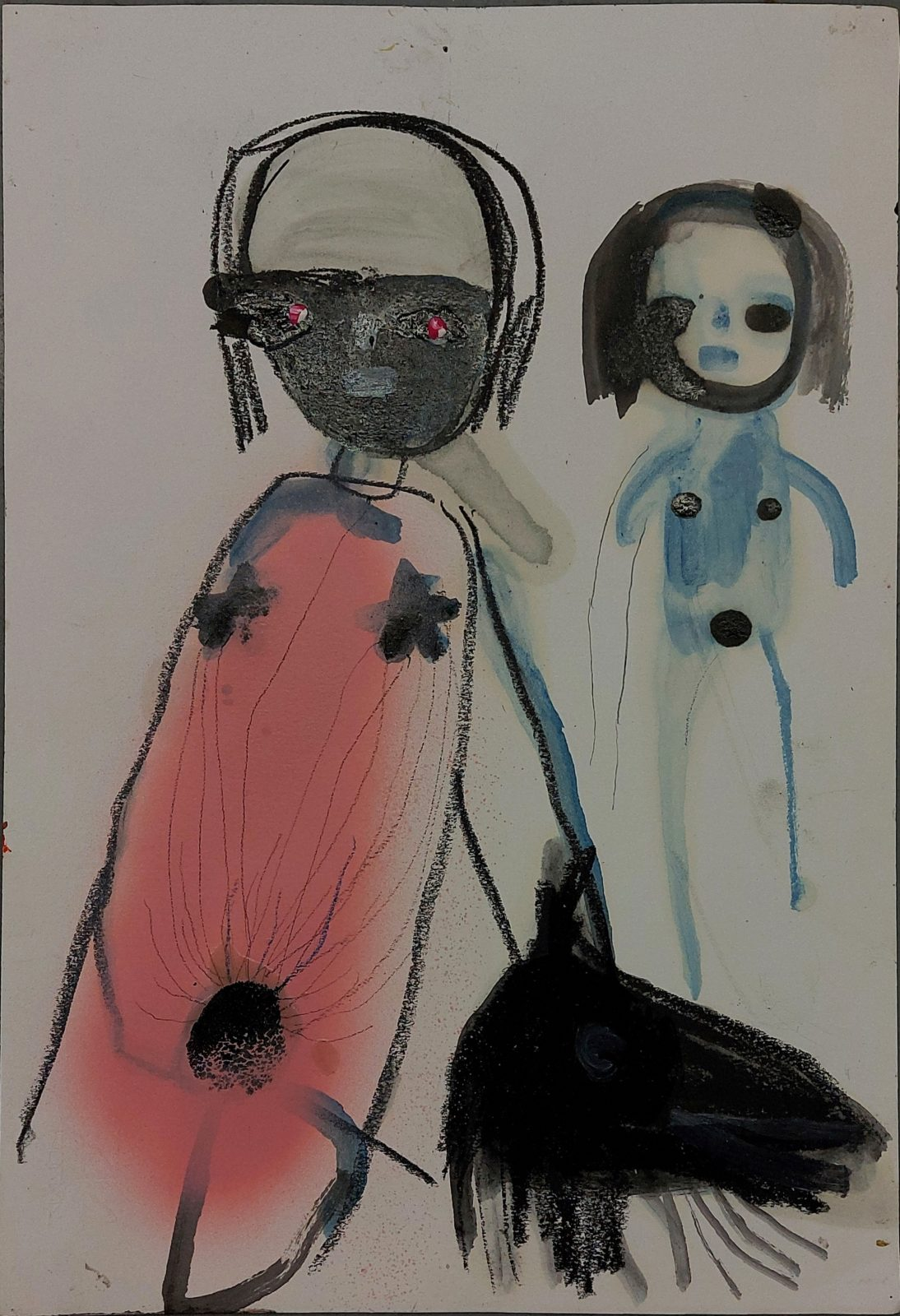 Untitled (two nudes with horse head)