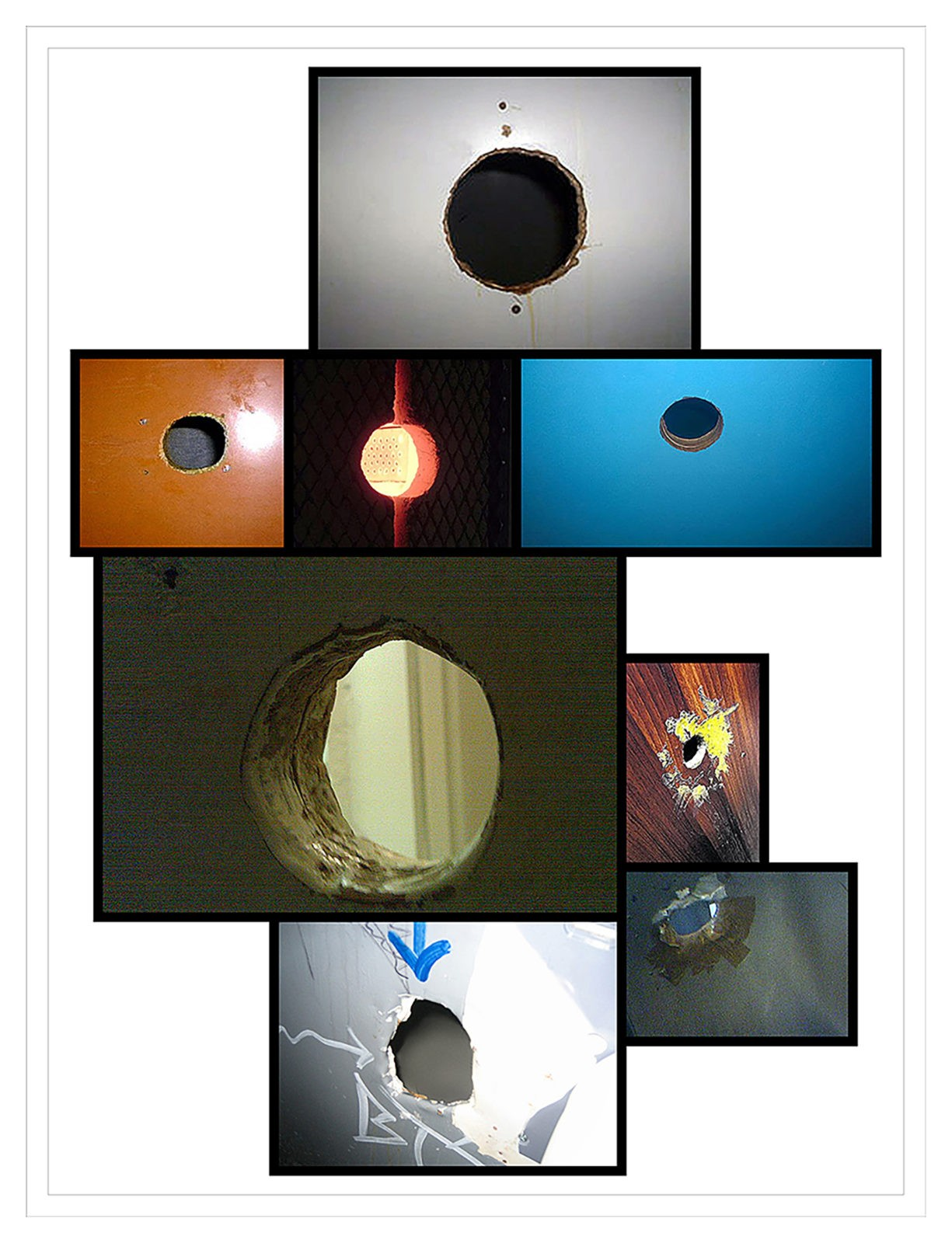 Work # 915: Untitled #80 (eight glory holes)