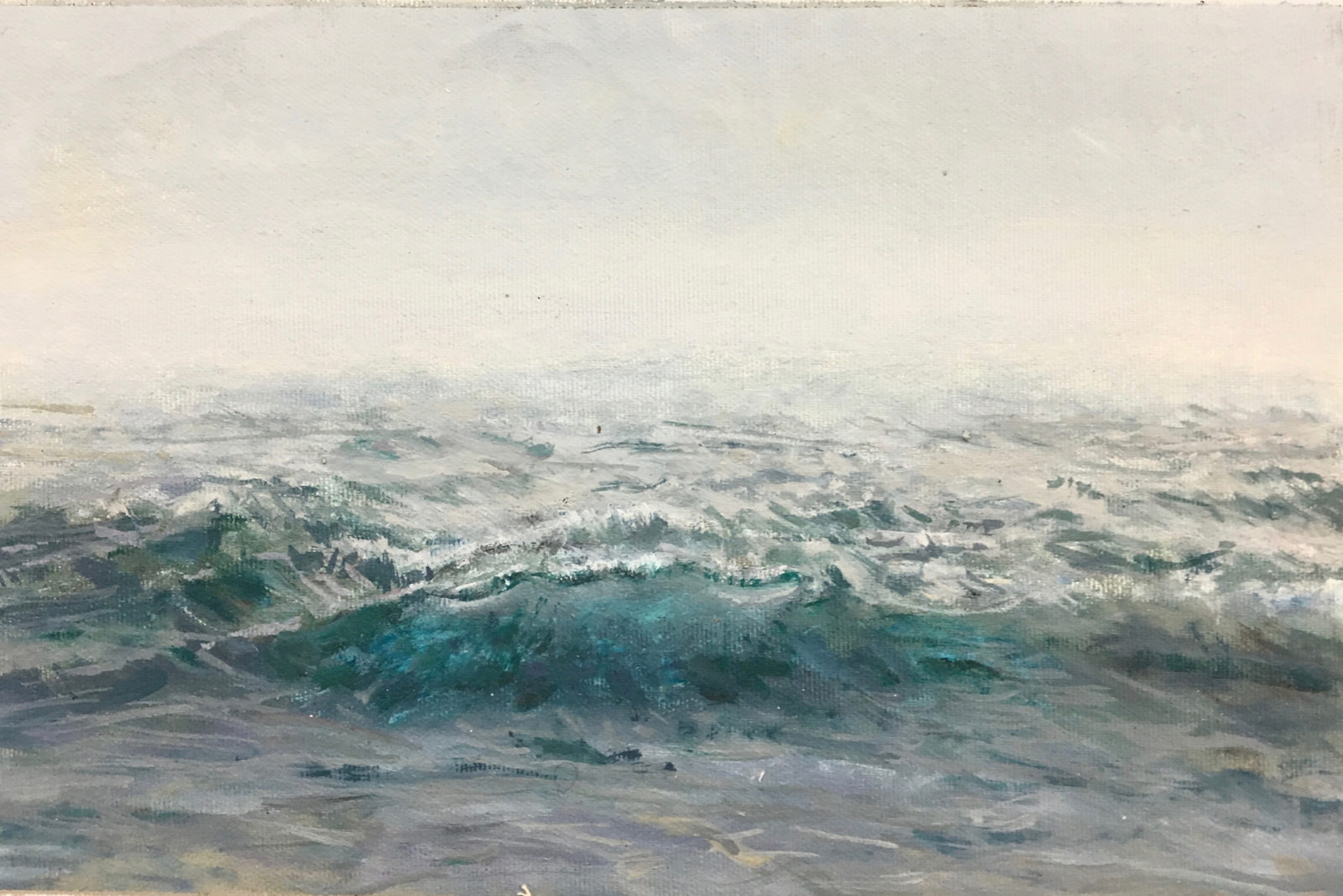 Waves and Grey Sky